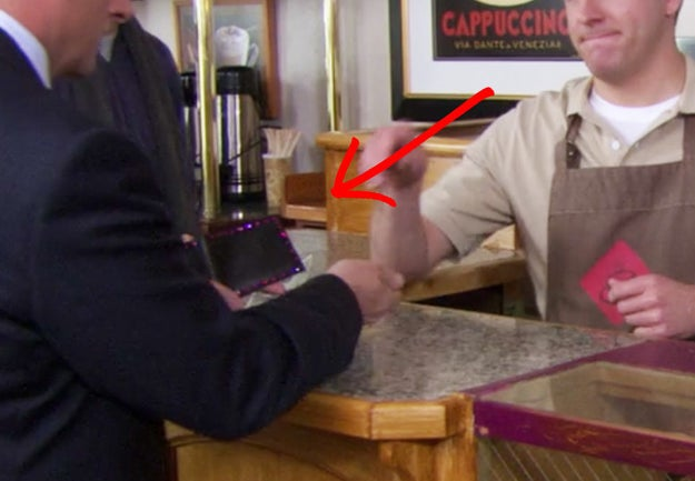 In Season 4, Michael definitely has a bedazzled wallet.