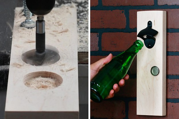 Catch Your Caps With This Magnetic Mounted Bottle Opener