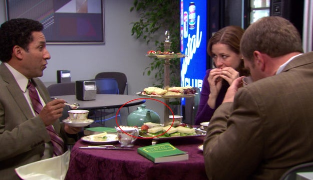 The Finer Things Club uses the teapot that Jim got for Pam.