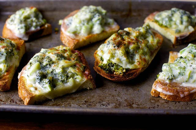 Broccoli, cheese, and bread. What more do you need?Get the recipe here.