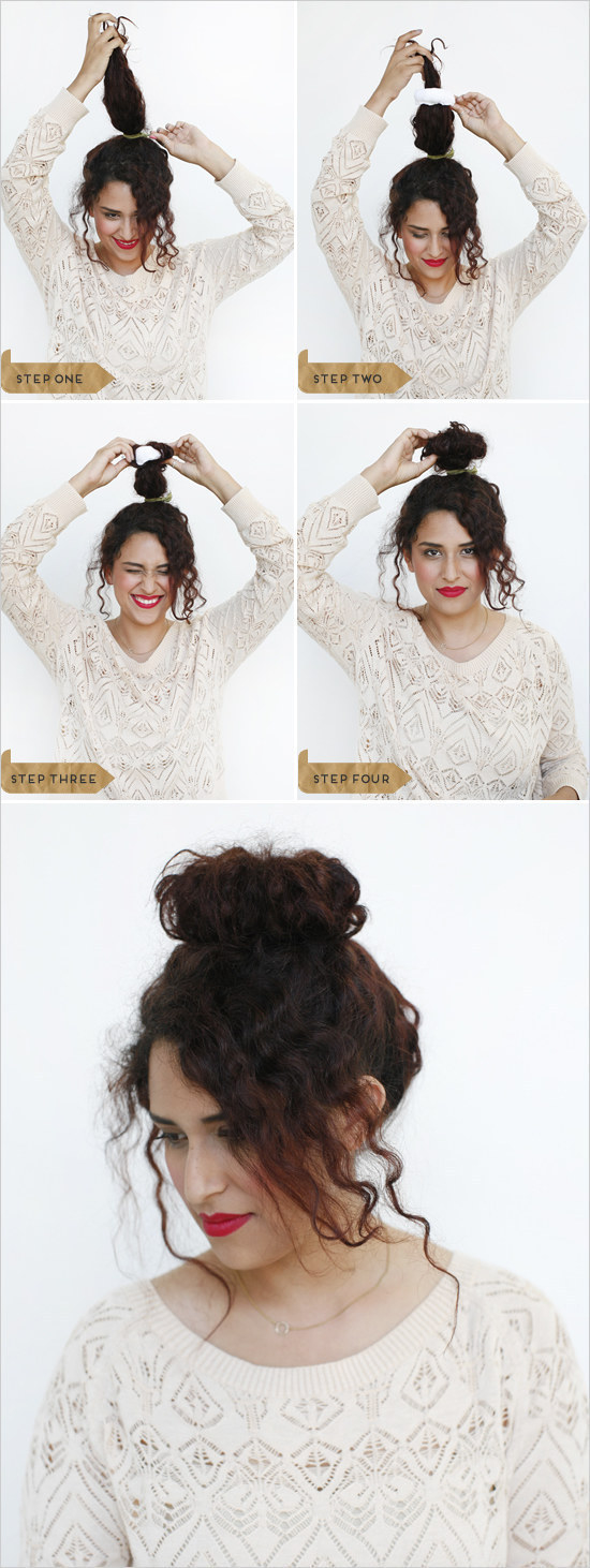 Opt for an undone sock bun that feels so damn romantic.
