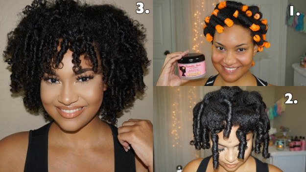 Set your hair in perm rods the night before and make your life SO much easier.