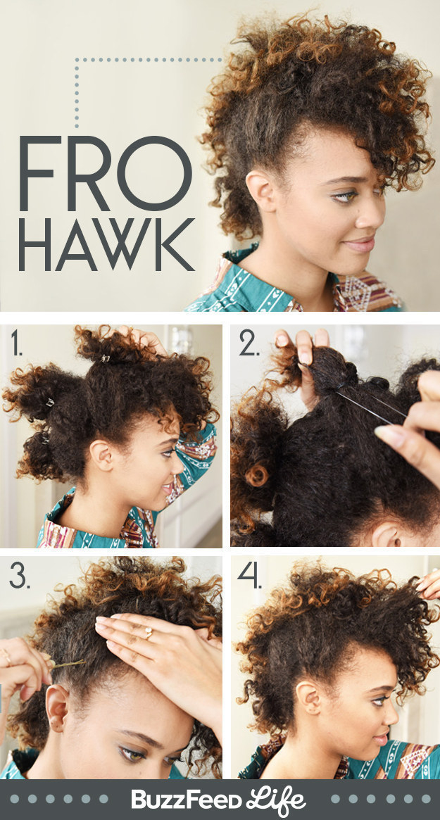 Make a curly faux hawk TO DIE FOR in under 10 minutes.