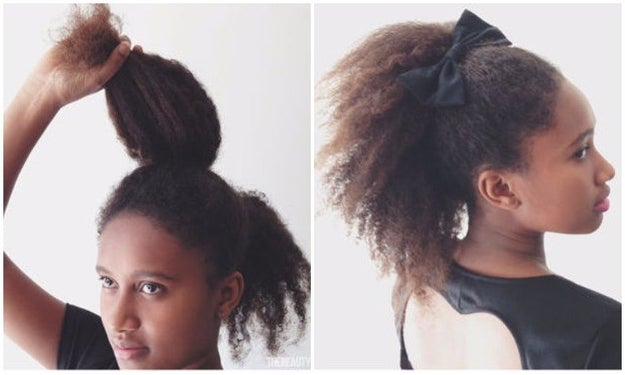 Double layer your ponytail to make it look twice as long.