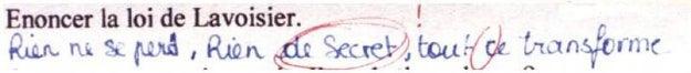 «Rien ne se perd, rien de secret, tout ce transforme».