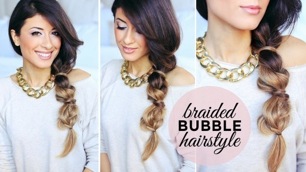 Ditch your classic three-stand braid for a much easier *bubble* braid.