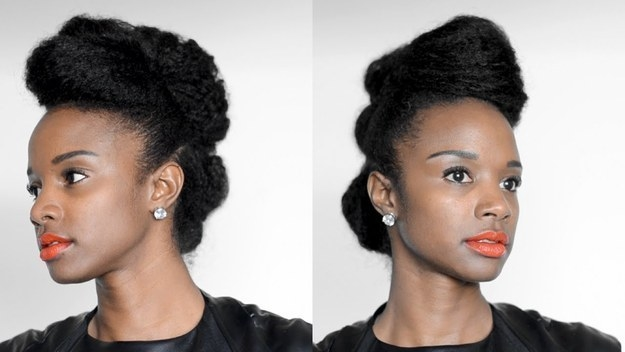 Start and finish this elegant updo before you run out the door.