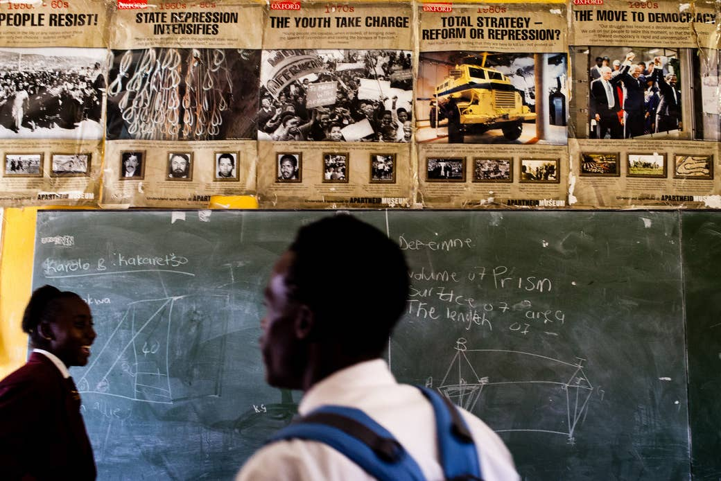 A history class room at a high school in Soweto, Oct. 2016.