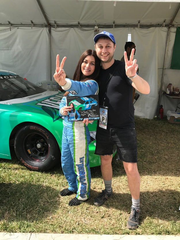 We got to meet vegan racecar driver Leilani Münter, who literally races to save animals.