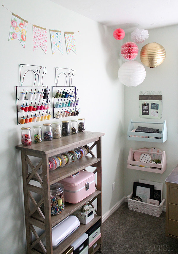 Use a combination of open and closed storage so your craft room will be as pretty as the projects that come out of it.