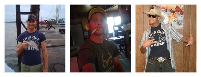 Photos of Tommie Woodward from his Facebook profile.