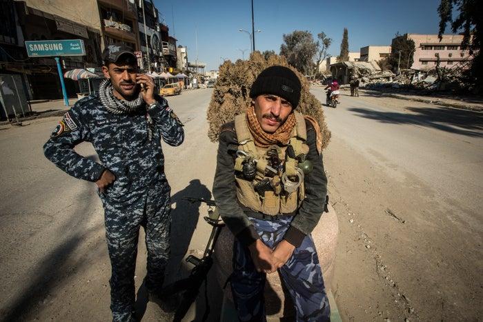 Iraqi federal police in eastern Mosul.