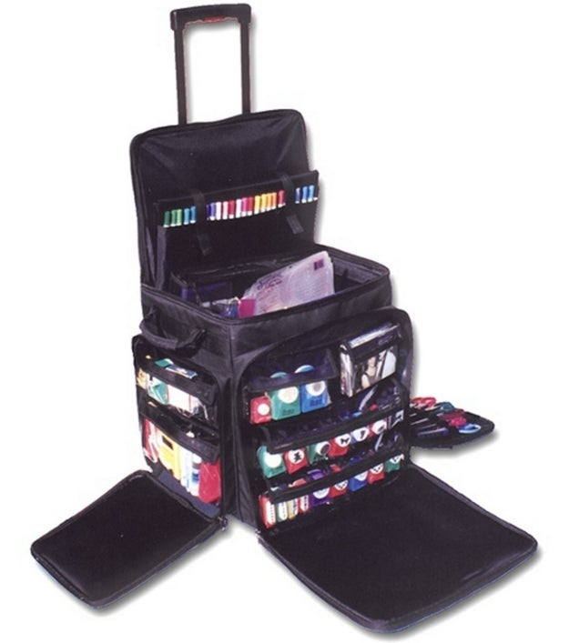 And pack up all your crafting supplies in an all-in-one rolling bag to take to work, on vacation, wherever!