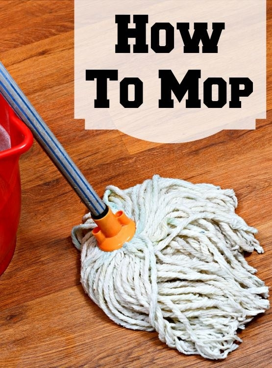 Mop your floors at least once a week to eliminate all of that fungus and mold that could be growing on your moist floors.