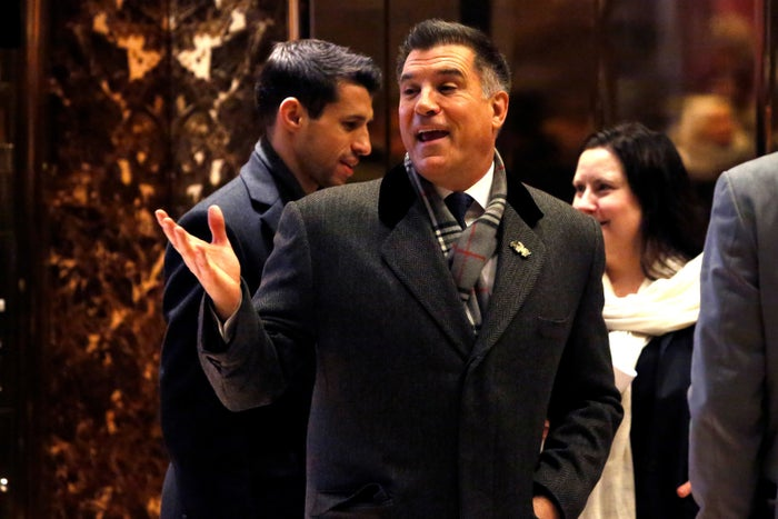 Vincent Viola enters Trump Tower on Dec. 16.