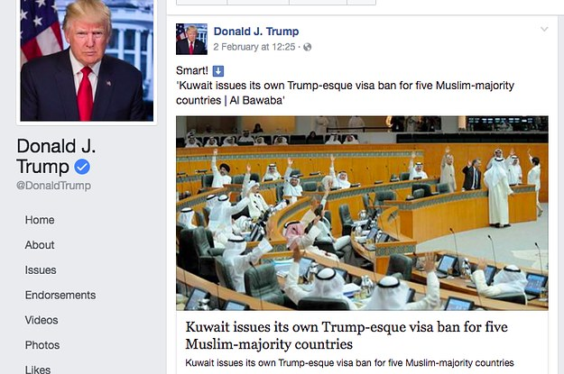 Trump Posted A False News Report To His Facebook Page And Got Thousands Of Shares