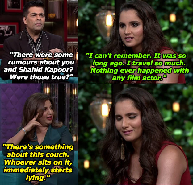 When Sania didn't want to talk about the past, but Farah wouldn't let that shit go.