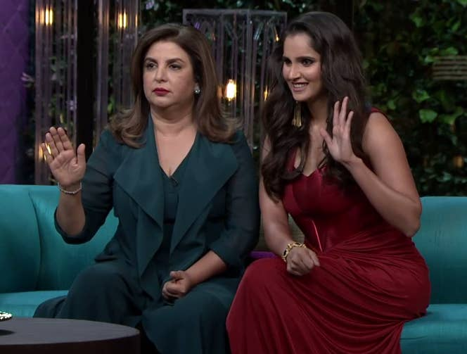 20 Hilarious Moments From Sania Mirza And Farah Khan's