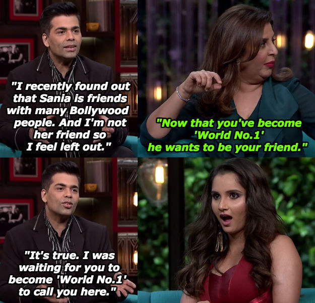 And when she outed Karan as an opportunist.