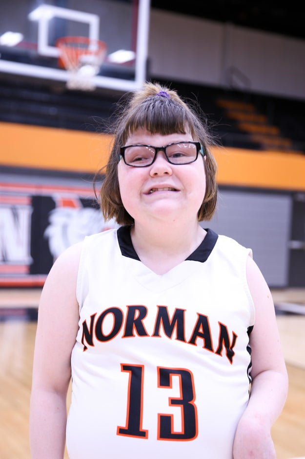 This is Lainy Fredrickson. She's a 21-year-old special needs student at Norman High School in Norman, Oklahoma.