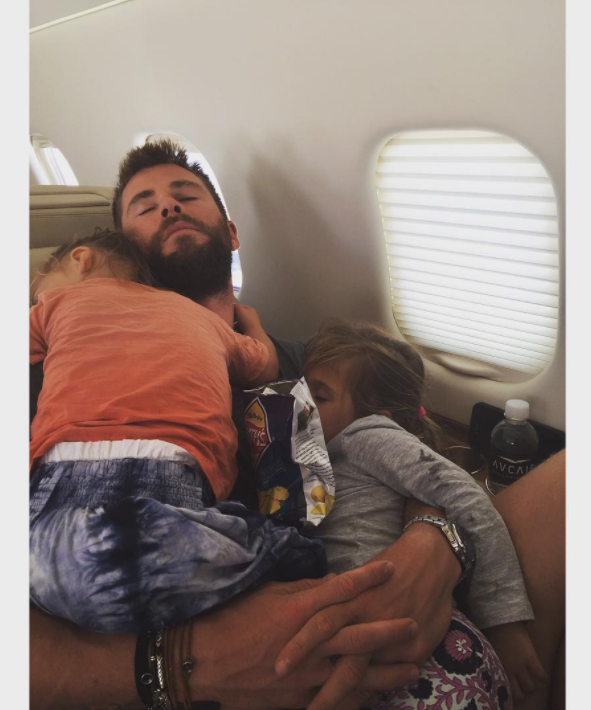 It's well established that Chris Hemsworth is a completely adorable dad.