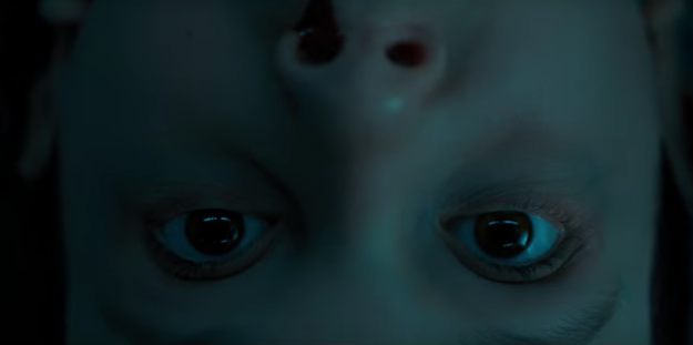 And then what follows is a collection of seriously chill-inducing scenes that we will have to all make wild theories about, like this one of Eleven...upside down: