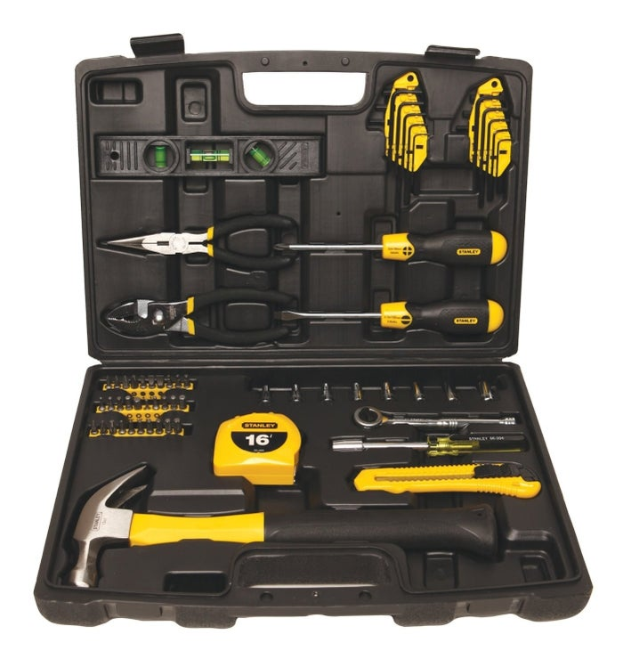 65 pieces, from screwdrivers to pliers and more.Get it for $37.99 on Amazon.