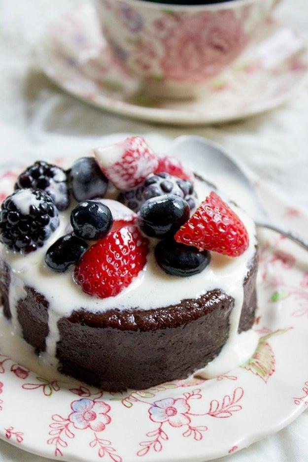 Flourless Mocha Cake With Crème Anglaise