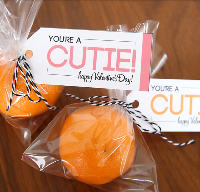 Grab a bag of mandarin orange and add on the free printable from Fab n' Free.