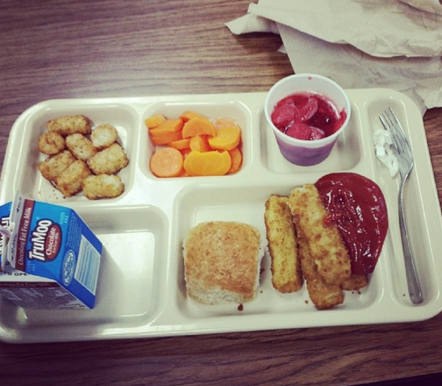 If you went to school as a child, then you probably have eaten a school cafeteria lunch.