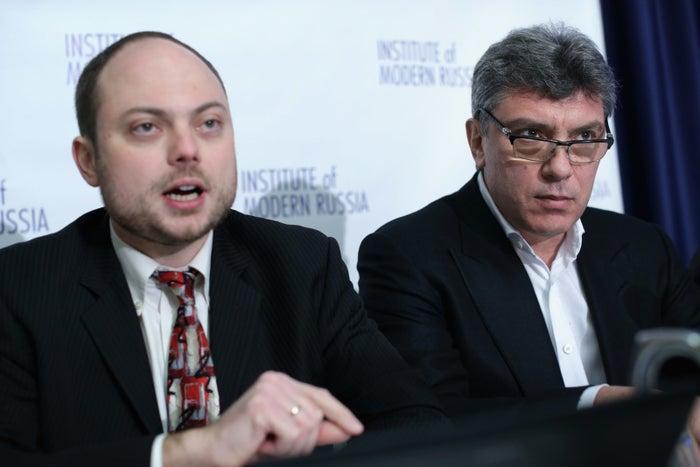 Vladimir Kara-Murza and Boris Nemtsov in 2014.