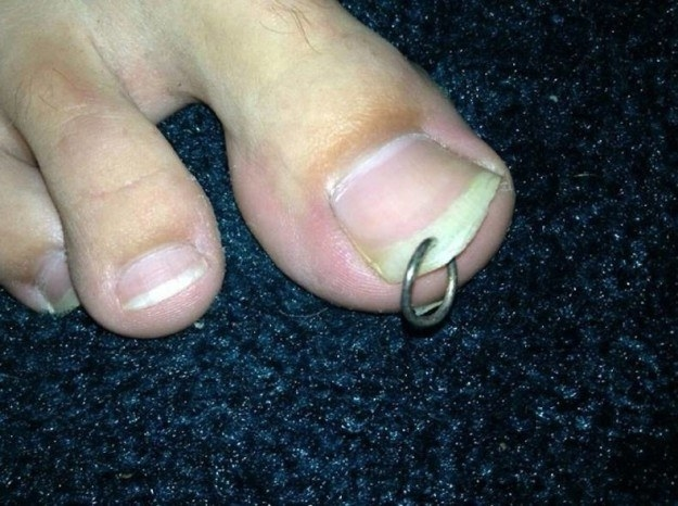 It's tough knowing that you live on the same planet as someone who pierces their toenails: