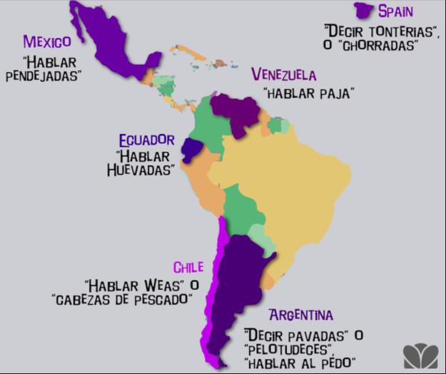 Da igual que aprendas español, en cuanto cambies de un país a otro no vas a entender la mitad de las cosas. ¡Son veinte idiomas diferentes en uno!