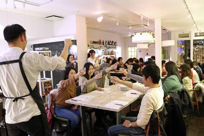 2月4日に開催された「古代ローマ料理会」。参加者は30人超で会場は満員だった。