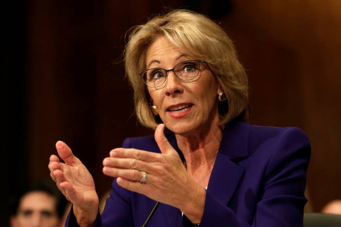 Betsy DeVos testifies before the Senate Health, Education and Labor Committee.