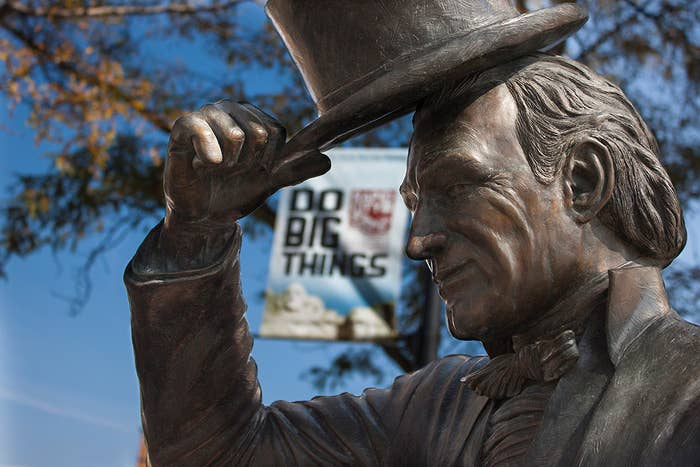 In downtown Rapid City, check out the life-size bronze statues of every single president we've ever had in this great nation. Snap a few selfies with your favorite U.S. president. Don't pretend you don't have one.