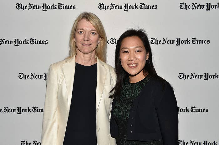 President of Science at the Chan Zuckerberg Initiative Cori Bargmann and Priscilla Chan