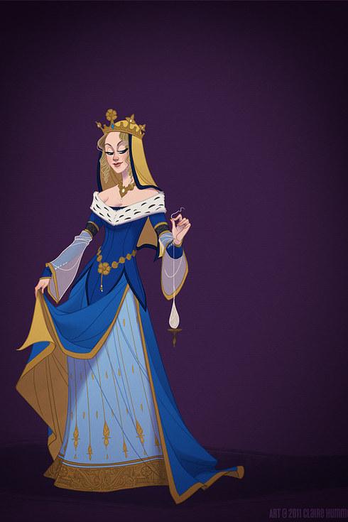 Essa artista americana recriou 7 personagens da Disney com figurinos de época 8