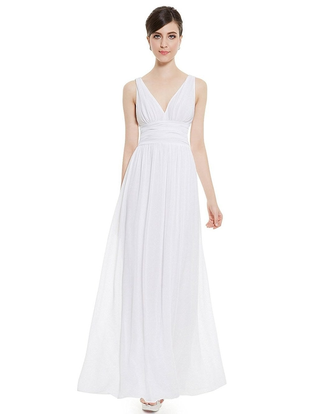 20 gorgeous wedding dresses you wont believe you can get on amazon a casual maxi dress that is perfect for save the date invitations and engagement photo shoots ombrellifo Image collections
