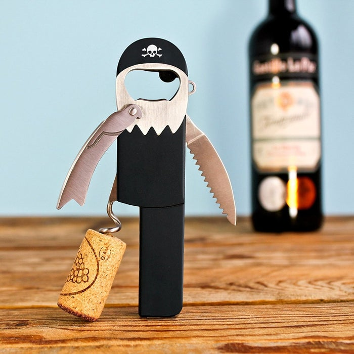 "Promising review: ""Argh Matie, this here be the cutest bottle opener me crew have come across in our plundering. He works mighty well, but don't be expecting this scurvy pirate to swab ye decks — he only opens me bottles."" —Mitch and RhondaPrice: $9.46"
