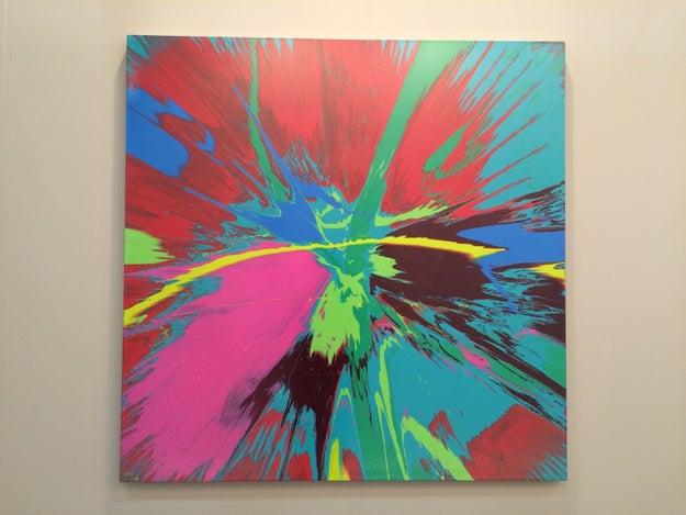 """Frente a este cuadro, un chavo dijo, """"Este es su trabajo en galerías pero su obra artística más importante es su vida misma."""""""