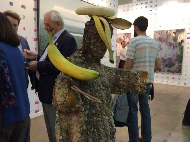 Vi al Cristo de los plátanos.