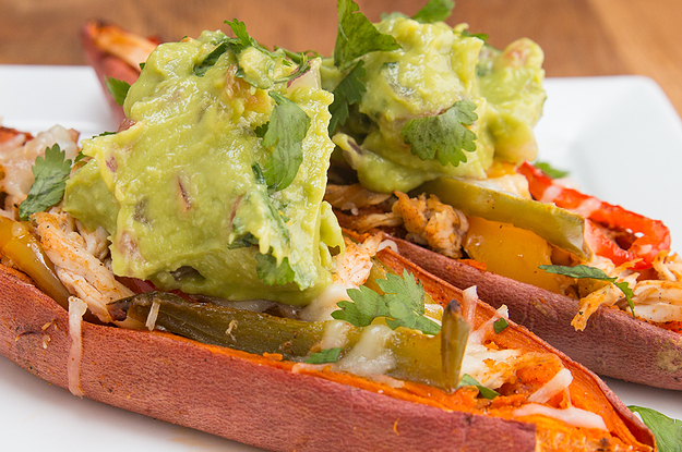 These Chicken Fajita Sweet Potato Skins Are Literally Pure Happiness