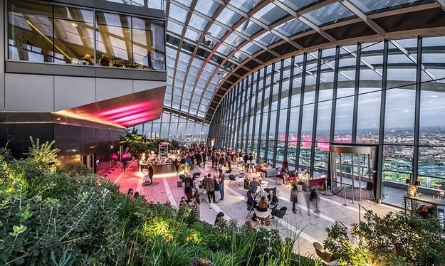 Skip the London Eye and get a bird's-eye view of the city from the Sky Garden.