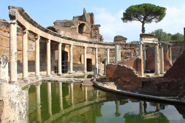 Trot past the Trevi Fountain in Rome and head straight for Hadrian's Villa.
