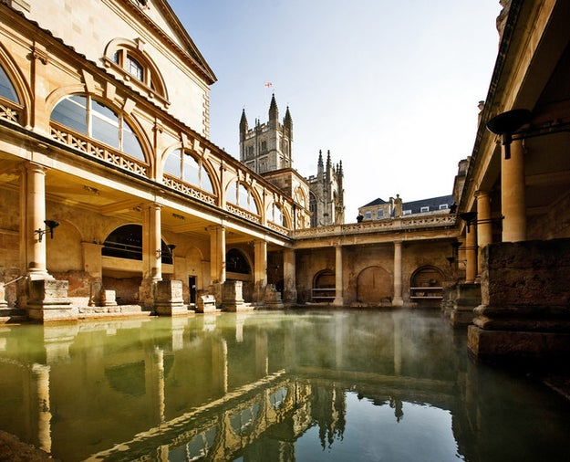 Bypass Stonehenge and check out the Roman Baths in — where else? — Bath.