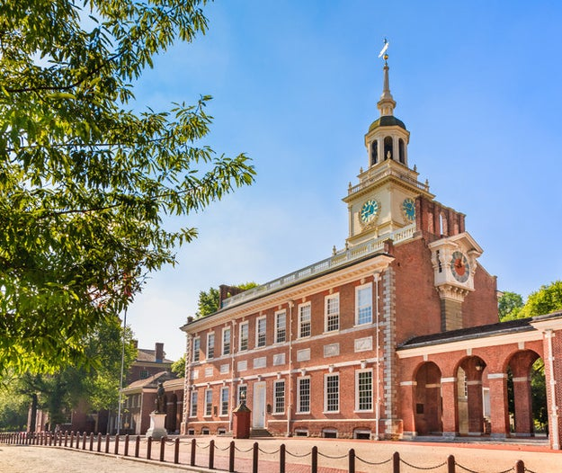 Bail on the Liberty Bell in Philadelphia and visit Independence Hall to get your Revolutionary War fix.
