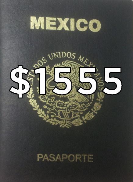 El precio de los pasaportes también subió. Uno de 6 años ahorita está en...