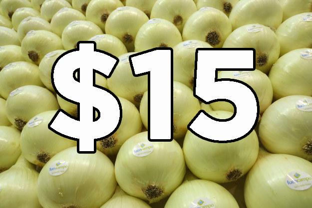 La cebolla que antes estaba en $12 el kilo ahora está en...