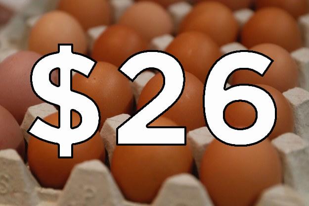 El huevo subió 4 pesos.